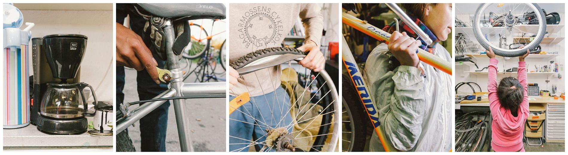 Bagarmossens cykelkök kollage